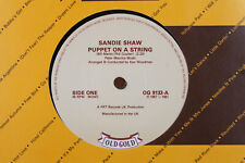 """7"""" - SANDIE SHAW - Puppet On A String - Long Live Love - UK Old Gold"""