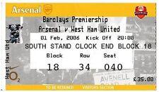 Arsenal Football League Fixture Tickets & Stubs (2004-Now)