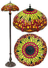 "New arrivals@18"" Green Dragonfly Leadlight Stained Glass Tiffany  Floor Lamp"
