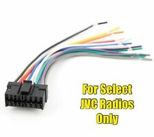Car Stereo Radio Replacement Wire Harness Plug for select JVC 16 Pin Radios