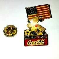 WORD CUP USA 94 COCA COLA LAPEL Pins pin 1994 World Cup BADGE Soccer WORLD FLAG