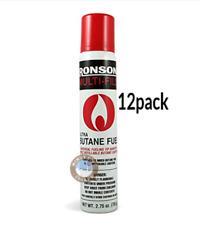 Ronson Multi-Fill Ultra Lighter Butane Fuel, 2.75 Fl Oz - 78 g (12 Pack Cans)