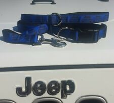 Jeep dog collar Electric Blue   #Collar #leash #harness