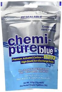BOYD CHEMI PURE BLUE NANO 5 PACKETS ACTIVATED CARBON. FREE SHIPPING TO THE USA