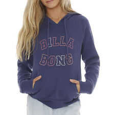 NEW + TAG BILLABONG JUMPIN GIRLS (6) HOODIE JUMPER FLEECE PULLOVER PERSIAN BLUE