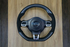 VW Volkswagen MK6 APR Golf GTI GLI Steering Wheel Matte Carbon Fiber Alcantara