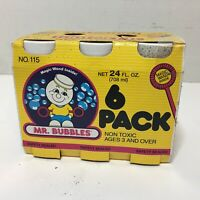 Vintage MR. BUBBLES 1990s Tootsietoy Bubbles 6 Pack Unopened Dirty  USA Made