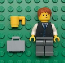 Lego Young Businessman Minifig: figure lot town city lawyer black suit vest