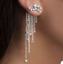 Boho Festival Party Boutique Uk Silver Chain Star Luxury Fashion Earring