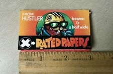 X-Rated Cigarette Rolling Paper Hustler Collectible Funny Sexy 1977 Vintage NOS