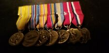WW2 MINI MEDALS PACIFIC THEATER FULL RACK 7 MEDALS VERY SHARP LOOKS GOOD !!!!!!