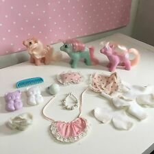 My Little Pony G1 Vintage Baby Pony Bundle With Accessories Joblot