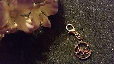 Lockets or Bracelets - Us Seller Rose Gold Dog Dangle Charm for Living