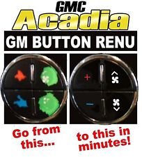 GMC ACADIA Climate Control A/C Worn Peeling Button REPAIR Decals Stickers