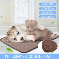 Pet Cooling Mat Cool Pad Cooling Bed Cusion S M L XL For Summer Dog Cat Puppy