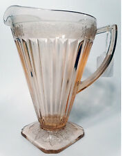 "Pink Jeannette Depression Glass Pitcher 8"" H Pre-Owned"