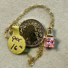 9 ct GOLD second hand pink  pendant