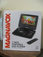 New! Magnavox 7 Inch Black Portable DVD Player With Swivel Screen Display