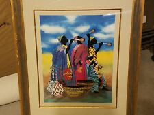 """Authentic """"music maker"""" painting by Kathleen Wilson numbered signed dated"""