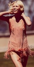 Haute Hippie Short Fringe Flapper Dress Nectar Size M Medium