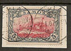 SAMOA 1901 5mk YACHT SG G19 SUPERB USED ON PIECE SIGNED KOHLER