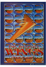 RARE 1975 PAUL MCCARTNEY WINGS OVER AMERICA POSTER MOUSE & KELLEY AD PRINT H219