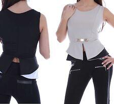 Taillenlang Damenblusen,-Tops & -Shirts mit Rundhals und Viskose für Business