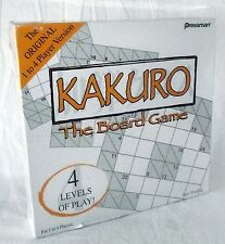 Sudoku KaKuro Board Game Puzzle Crossword Numbers 4 Difficulty Levels Sealed New