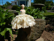 Antique Victorian Pin Cushion Doll - Original Bouffant Dress