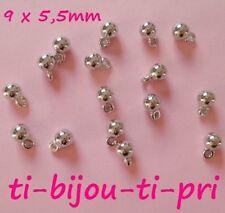 pour 6mm Perle 1000 Perles Coupelles Argenté 6x5mm