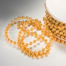 Peach 3 mm x 24 yards Beaded String Garland Wedding Party Crafts Decorations