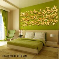 3D Wall Mirror Sticker Cobblestone shape Sticker Cool Mirrors Wall Stickers