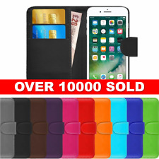 PU Leather Wallet Magnetic Flip Phone Case Cover For Apple iPhone 5 6 7 8 X Plus