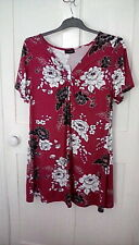 BNWT -  Yours Clothing - pink floral ring detail top, size 20, RRP £21.99
