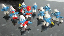 LOT DE 10 SCHTROUMPFS, SMURF figurines Signé PEYO W. Germany