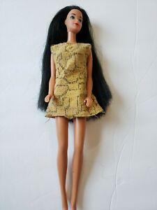 Vintage Barbie Steffie Face Long Black Hair Doll Damage to hand & shoulders