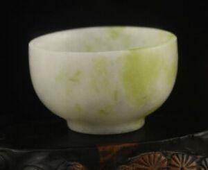 Old China natural jade hand-carved statue bowl