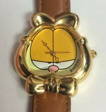 "ARMITRON Garfield The Cat Face 7.5"" Collector's WATCH RARE Retired Style"