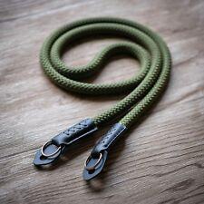 Rope Camera Strap HandMade Army Green Fuji Lieca sony 120cm