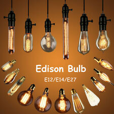 Edison E27/E14/E12 Candle Bulb Antique Globe Filament Lamp Retro Vintage Light