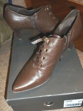 STACATTO BROWN LEATHER BOOTIE SHOES EURO SIZE 39  US SIZE 8-8.5