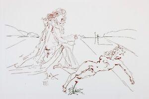 SALVADOR DALI etching OVIDE L'ART D'AIMER 1979 HAND SIGNED