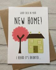 Personalised New Home Housewarming Moving Card Haunted: Funny Rude Adult Humour
