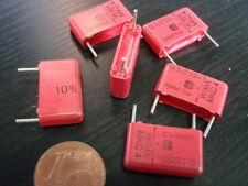 KONDENSATOR NOSTALGIE WIMA MKS 100nF (0,1µF) 250V=  17x10x5mm    6x   25486