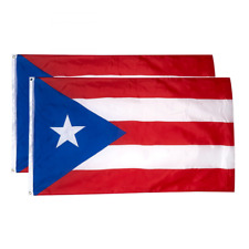 Juvale Puerto Rico Flags - 2-Piece Outdoor 3x5 Feet, Rican National Flag Banners
