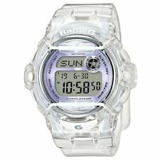 NEW Casio Baby-G BG169R-7E Semi-Transparent Women's Sports Watch Purple/Clear