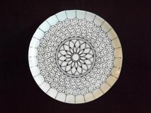 "Sydenstricker Glass Embassy White Platter 13 1/2"" Signed EXC"