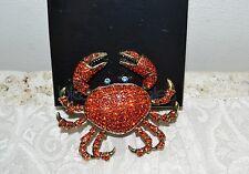 "NIB $190 HEIDI DAUS ""Queen Crab"" Massive Brooch Pin SWAROVSKI Crystals"