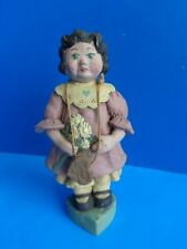 """Sarah'S Attic 7.5"""" Girl With Flowers Figure- #937"""