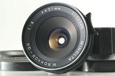 [Near MINT w/ Hood] Minolta W ROKKOR QH 21mm f/4 MF Lens from JAPAN 187